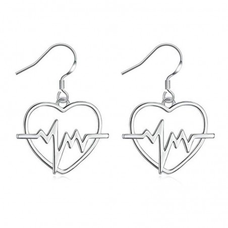 Heart Shaped Heartbeat Earrings
