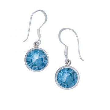 Beautiful Blue Topaz Gemstone Dangle Drop Earrings