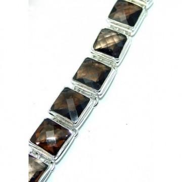 Bracelet with Smokey Quartz Gemstones