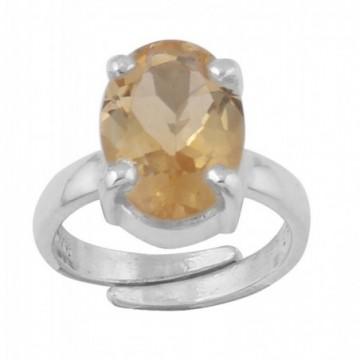 Handmade Designer Citrine Gemstone Ring