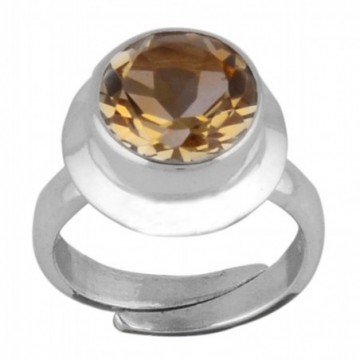 Designer Citrine Gemstone Ring