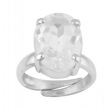 Handmade Clear Quartz Gemstone Ring