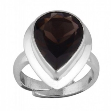Wonderful Smokey Quartz Gemstone Ring