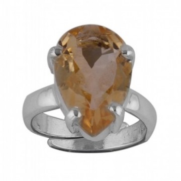 Handmade Designer Citrine Gemstone Ring