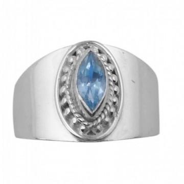 Elegant style Blue Topaz Gemstone Ring