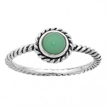 Handmade Chrysoprase Gemstone Ring