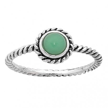 Handmade Chrysoprase Gemstone Ring