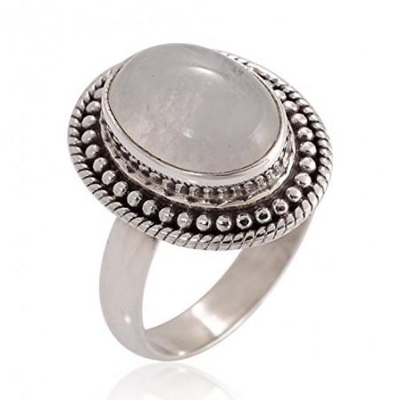 Artisan Crafted Rainbow Moonstone Gemstone Ring