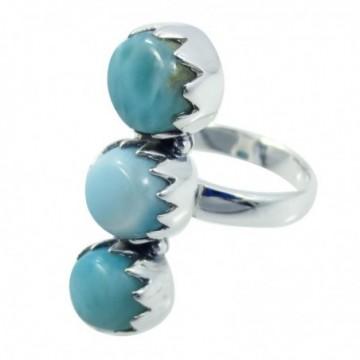 Elegant style Larimar Gemstone Ring