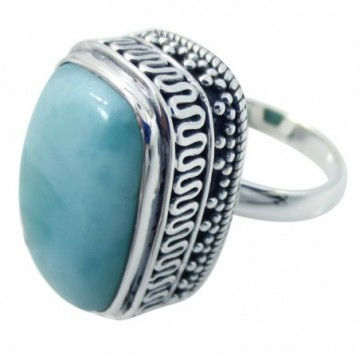 Handmade Larimar Gemstone Ring