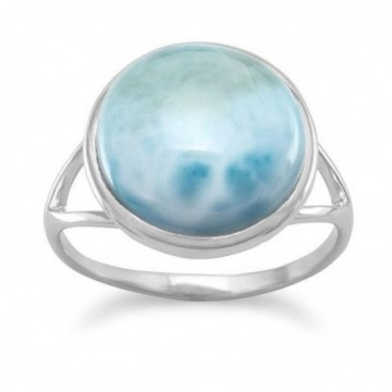 Artisan Crafted Larimar Gemstone Ring