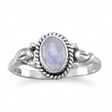 Handmade Rainbow Moonstone Gemstone Ring