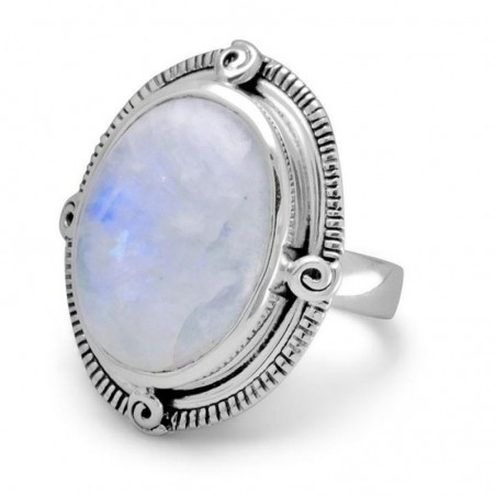 Artisan Crafted Rainbow Moonstone Gemstone Ring