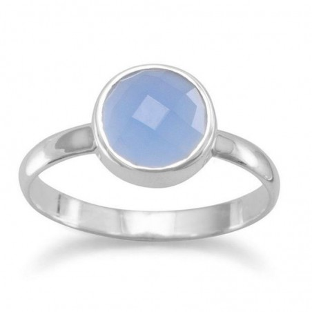 Handmade Designer Blue Chalcedony Gemstone Ring