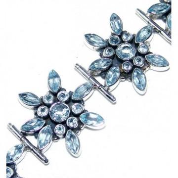Bracelet with Blue Topaz Gemstones