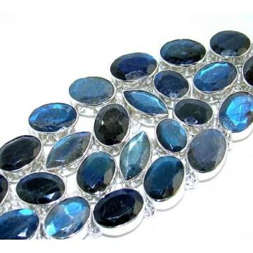 Bracelet with Faceted Labradorite Gemstones