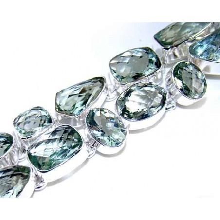 Bracelet with Green Amethyst Gemstones