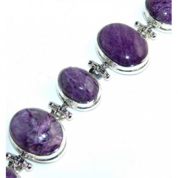 Bracelet with Charoite Gemstones