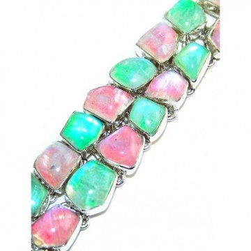 Bracelet with Rainbow Moonstone Gemstones