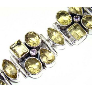 Bracelet with Citrine Faceted Gemstones