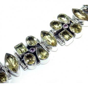 Bracelet with Lemon Quartz Gemstones