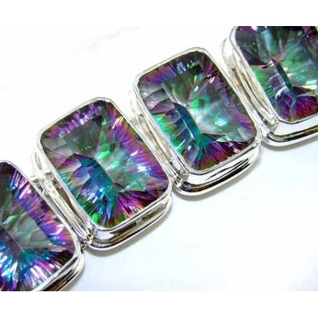 Bracelet with Mystic Topaz Gemstones