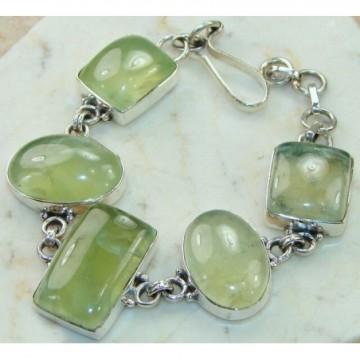 Bracelet with Prenite Gemstones