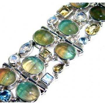 Bracelet with Labradorite, Citrine Faceted, Rainbow...