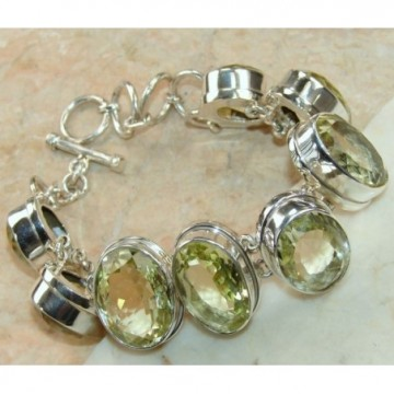 Bracelet with Lemon Quartz Gemstones