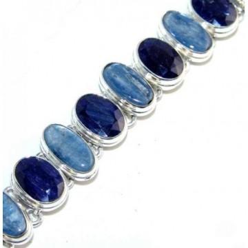Bracelet with Sapphire, Kyanite Gemstones