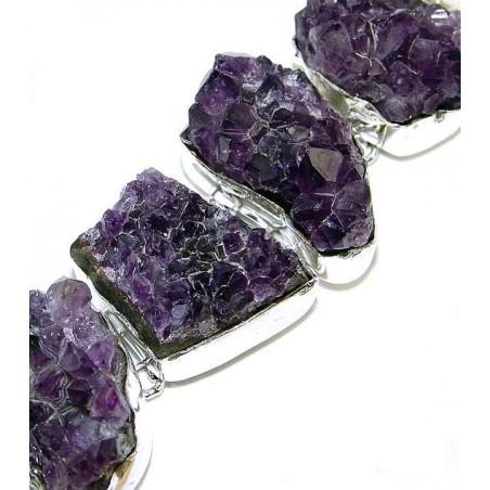 Bracelet with Amethyst Drusy Gemstones