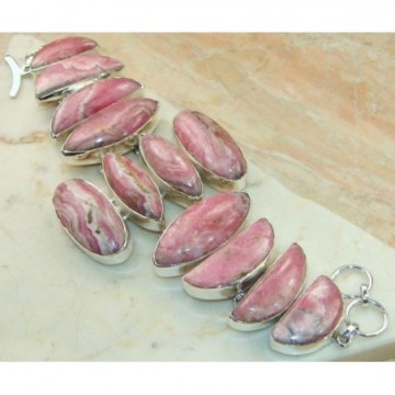 Bracelet with Rhodochrosite Gemstones