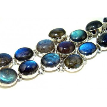 Bracelet with Labradorite Gemstones