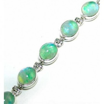 Bracelet with Green Moonstone Gemstones