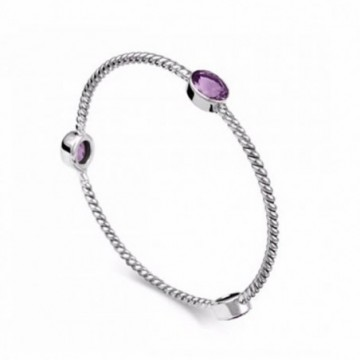 Elegant style Amethyst Gemstone Bangle