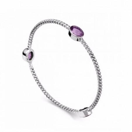 Elegant style Amethyst Gemstone Bangle