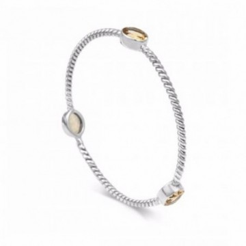 Elegant style Citrine Gemstone Bangle
