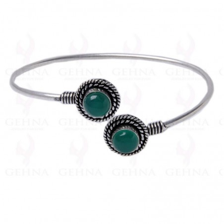 Artisan Crafted Green Onyx Gemstone Bangle