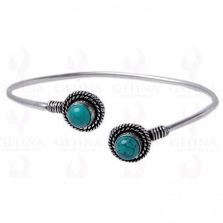 Handcrafted Turquoise Gemstone Bangle