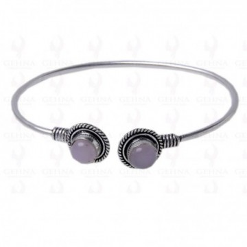 Handcrafted Rose Quartz Gemstone Bangle