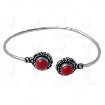 Elegant style Coral Gemstone Bangle