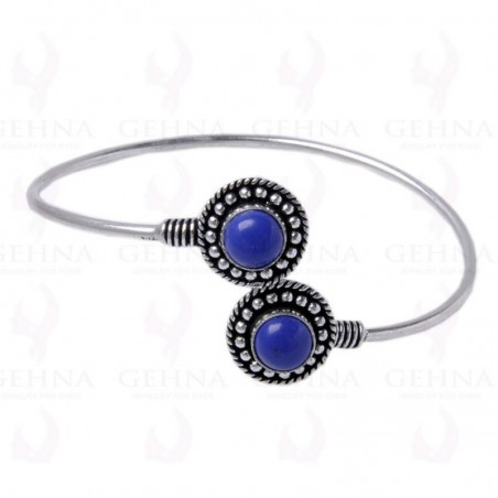 Designer Blue Chalcedony Gemstone Bangle