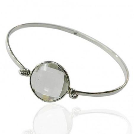 Elegant style Clear Quartz Gemstone Bangle