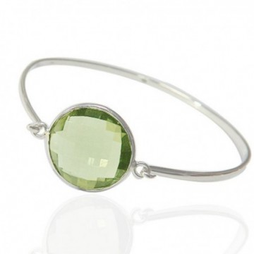 Designer Peridot Gemstone Bangle