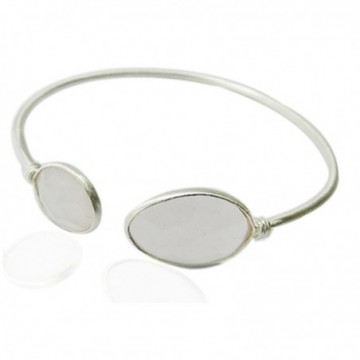 Elegant style Clear Quartz Gemstone Bangle