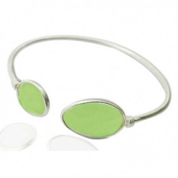 Elegant style Chrysoprase Gemstone Bangle