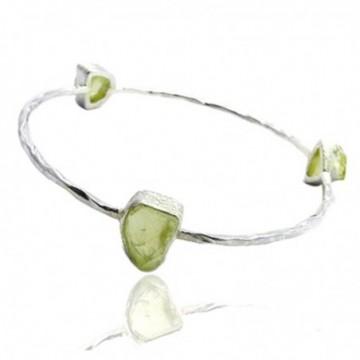 Handcrafted Peridot Gemstone Bangle