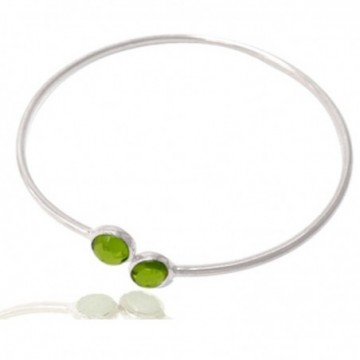 Elegant style Peridot Gemstone Bangle