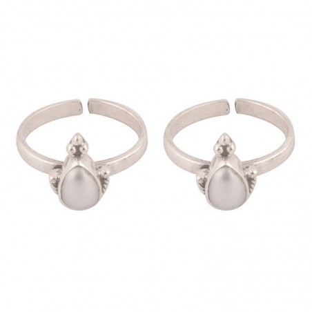Elegant style Pearl Gemstone Toe Ring