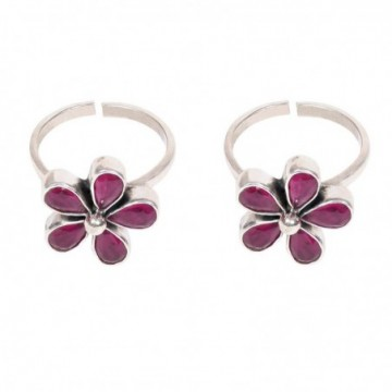 Elegant style Ruby stone Gemstone Toe Ring